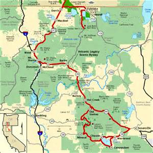 oregon scenic byways map volcanic legacy scenic byway california section