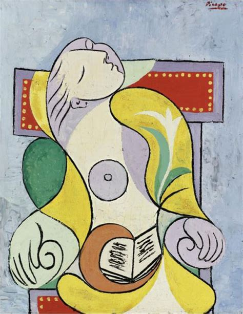 libro picasso big art pablo picasso s painting la lecture sells for 163 25 2 million at sotheby s extravaganzi