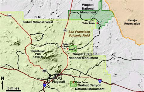 flagstaff arizona map geology of national parks