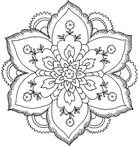 simple mandala flower coloring pages only coloring pages