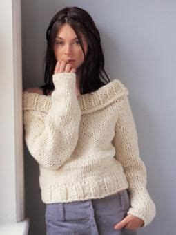 shoulder jumper knitting pattern shoulder sweater pattern using chunky yarn and