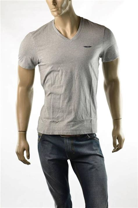 Kaos Armani Size M armani exchange t shirt a x mens v neck slim wings logo