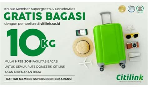 bagasi supergreen citilink inaca indonesia national air carriers association