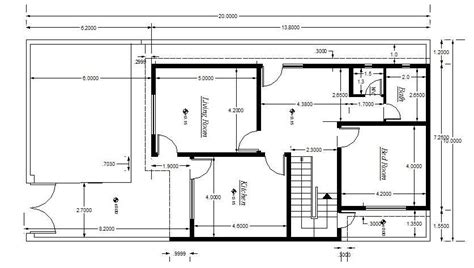 house layout dwg cad block of house plan setting out detail cadblocksfree