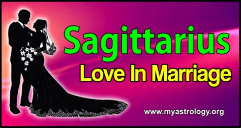 sagittarius love in marriage my astrology