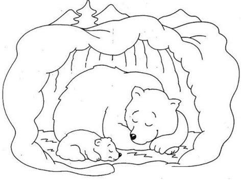 sleeping bear coloring pages to print ososo hibernando dibujo de mama oso durmiendo con su hijo