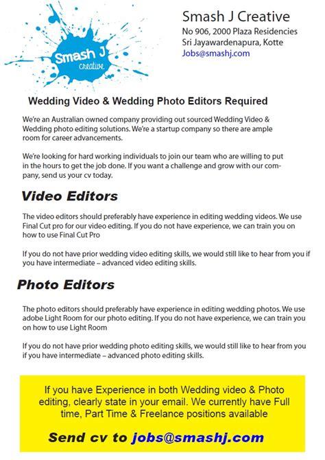 design editor job video photo editors job vacancy in sri lanka