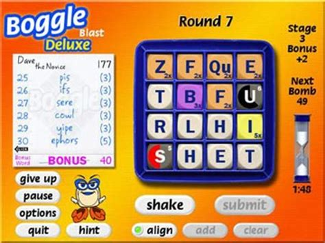scrabble blast shockwave play free boggle supreme form as many words