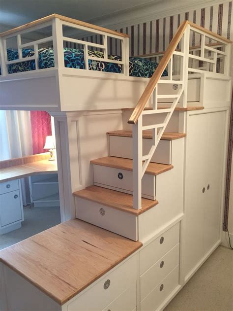loft bunk beds stairs loft bed with bookcase and drawers yahoo image search