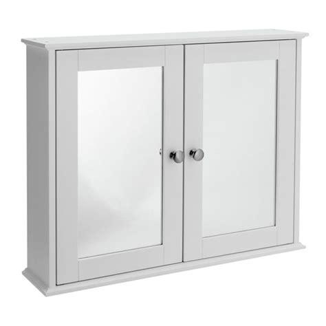white mirrored bathroom cabinet buy home mirror 2 door core cabinet white at argos co uk