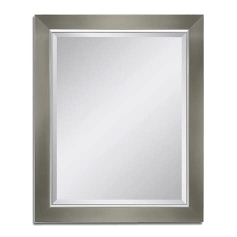ginger bathroom mirrors ginger surface 18 in w x 34 in l framed wall mirror in polished chrome 2841 pc the home depot