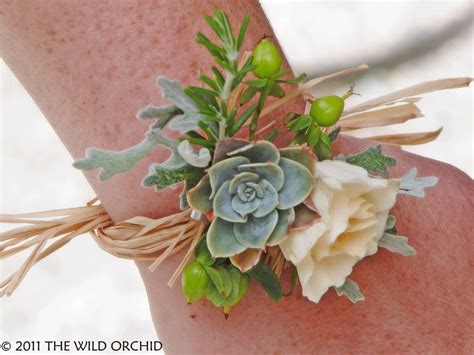 soft orange and muted green artificial rose spray floral modern wrist corsage flowers pinterest wrist corsage