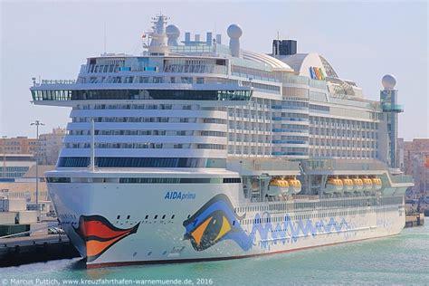 fährt die aida prima schon kreuzfahrtschiff aidaprima 2016 kreuzfahrthafen warnem 252 nde