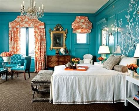 Bedroom Color Schemes With Teal Guest Teal In The Bedroom On The Go