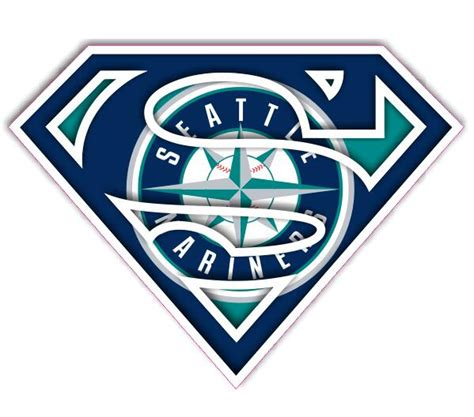 seattle transfer color seattle mariners superman logo iron on transfer 2 00