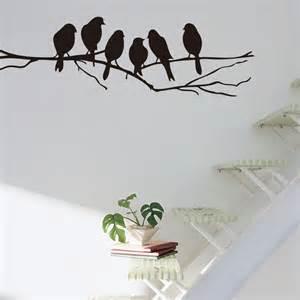 bird wall art stickers tree branch bird removable pvc decal art mural home decor