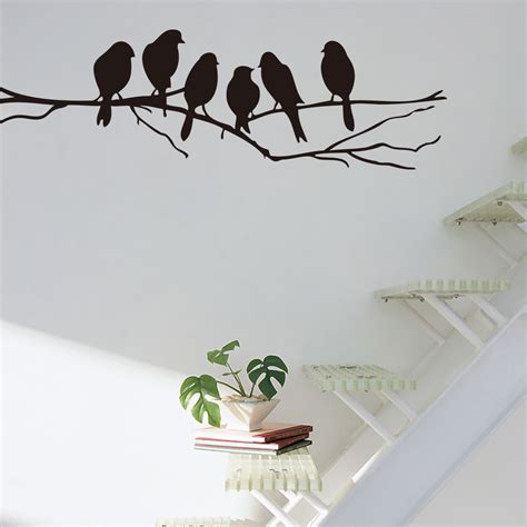 tree branch bird removable pvc decal art mural home decor
