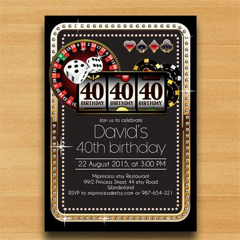 casino birthday card template card gold birthday from miprincess on etsy