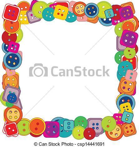 clipart cornice bottoni cornice bambini vettori eps cerca clip