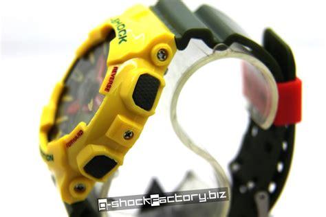 G Shock Kanvas Ga 100 Green Yellow g shock ga 110rf 9aer limited edition rastafarian pack yellow green by www g