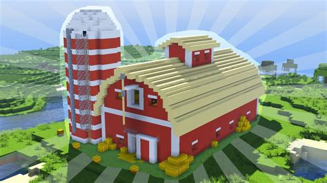 how to build a barn house how to build a minecraft barn creative building youtube