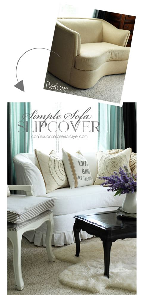 simple sofa slipcover confessions of a serial do it