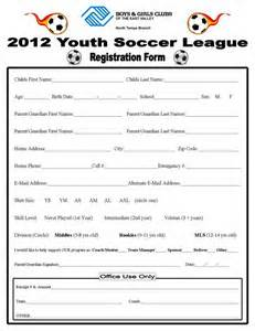 youth registration form template 5 best photos of soccer player registration form youth