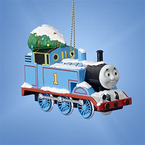 thomas the tank engine with tree blue train christmas
