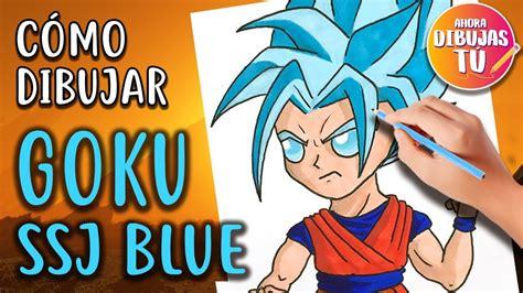 imagenes kawaii de goku como dibujar a goku ssj blue kawaii dibujos kawaii youtube