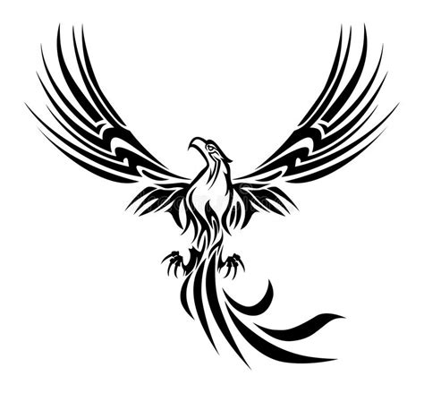 phoenix tattoo stock illustration image of fire flying