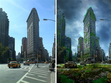 New York After nyc s flatiron building before after the apocalypse low poly post apocalyptic and