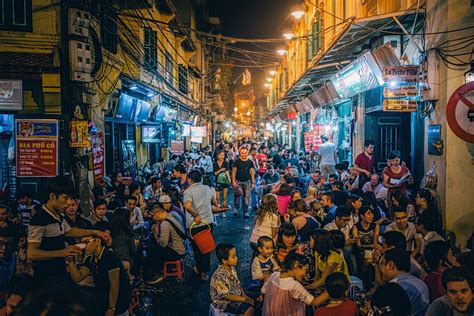 which corner do sts go in bia hoi corner hanoi a popular and busy for