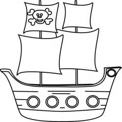 ship outlines pirate ship outline cliparts co