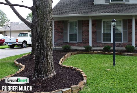landscape rubber mulch perfect  residential  commercial landscaping earn leed credits