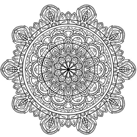 mandala coloring pages circle mandala best free coloring