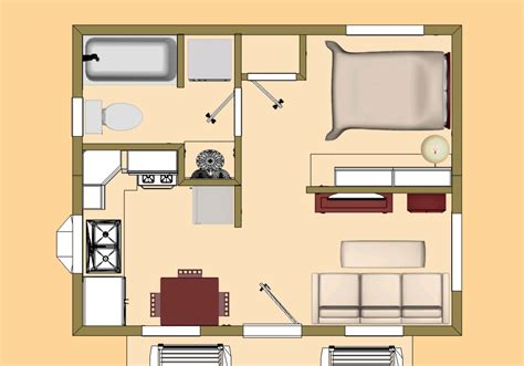 320 square feet cozyhomeplans com 320 sq ft tiny house floor plan