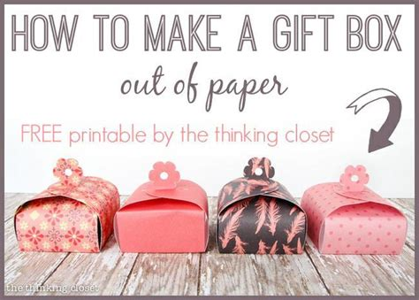 How To Make A Paper Jewelry Box - 21 free printable gift box templates tip junkie