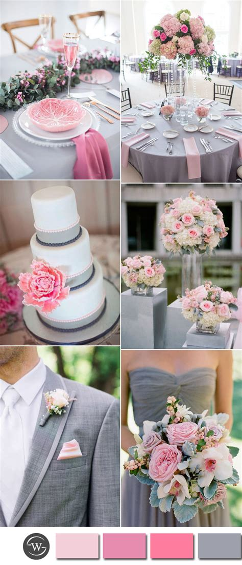 six beautiful pink and grey wedding color combos with invitations stylish wedd