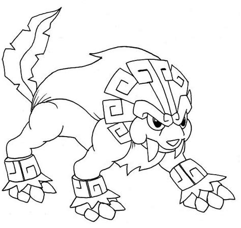 pokemon coloring pages raikou legendary pokemon coloring pages dog coloringstar