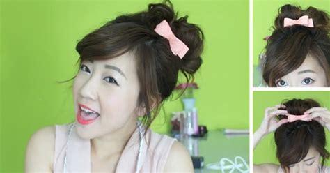 tutorial rambut wave trend fashion korea terbaru tutorial gaya rambut cepol