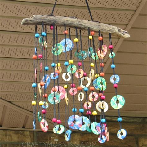 colorful metal washer wind chime fun family crafts