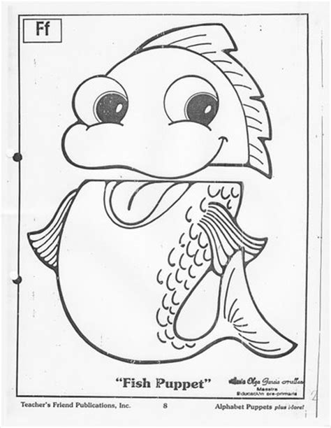 Paper Bag Fish Craft - best photos of fish puppet template free puppet patterns