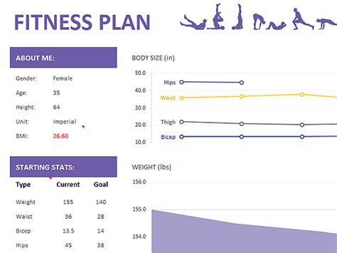 fitness plan templates office com