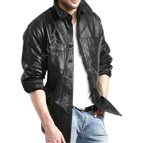 stylish leather shirt   men leatherexotica