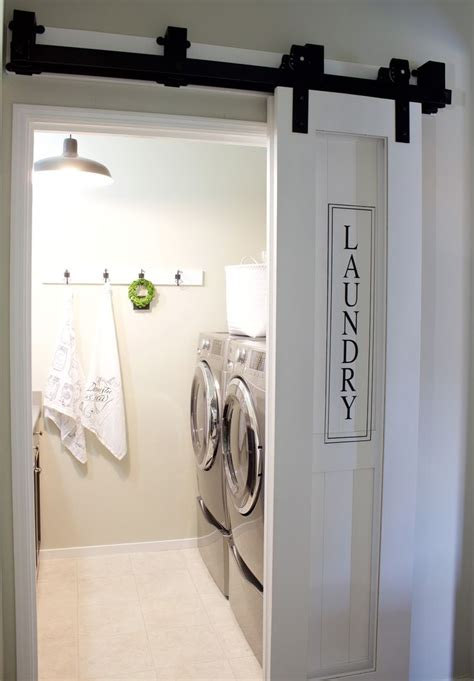 Laundry Room Barn Door A House And A Dog Barn Doors Laundry Closet Door Ideas