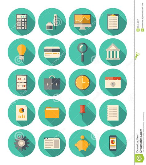 finance and business modern icons set royalty free stock