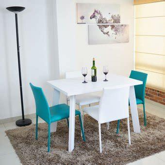 comedor lugo  puestos blanco sillas  blanco  azul