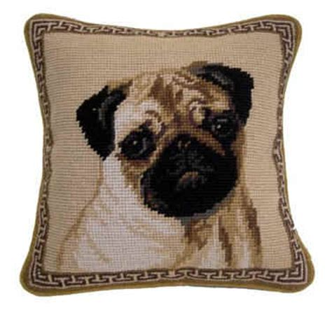 unique pug gifts small 10 quot needlepoint pug pillows and other unique pug gifts
