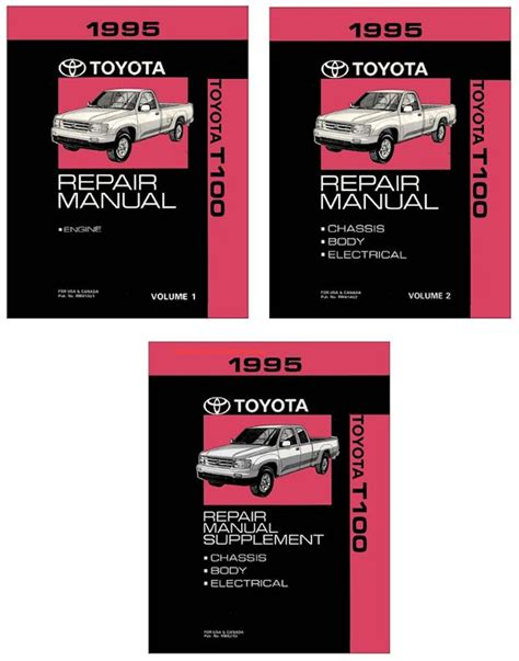 service manual pdf 1995 toyota t100 transmission service repair manuals toyota tacoma