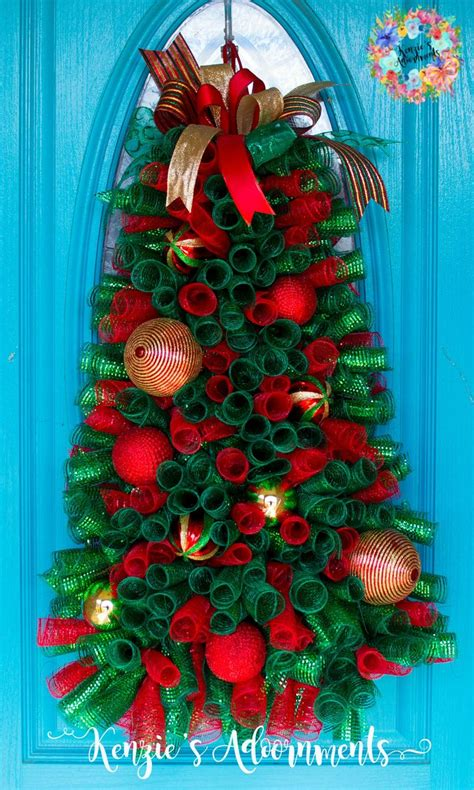 christmas tree wreath deco mesh christmas tree wreath